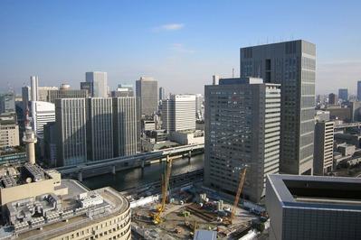 アパホテル大阪肥後橋駅前の最上階「チャオサイゴン」からの眺め