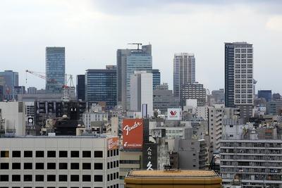 江戸東京博物館から見た秋葉原方面