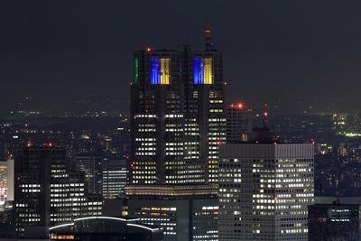 六本木ヒルズから東京都庁夜景