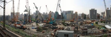 東京スカイツリーの建築現場