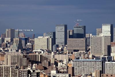 自宅マンションから見た東京駅周辺の超高層ビル群