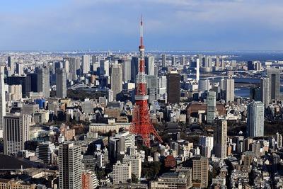 勝どき ザ・タワーと東京タワー