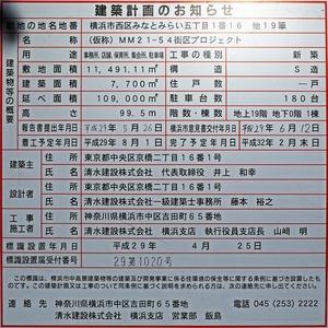 (仮称)MM21-54街区プロジェクト 建築計画のお知らせ