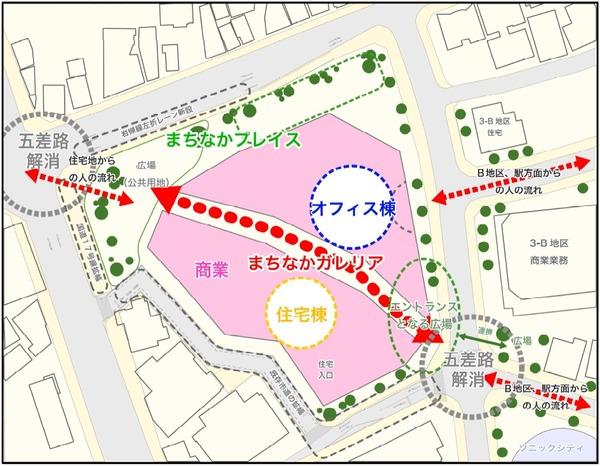 大宮駅西口第3-A・D地区第一種市街地再開発事業 敷地イメージ図