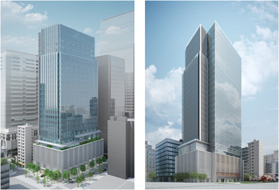(仮称)新東京武田ビルの完成予想図
