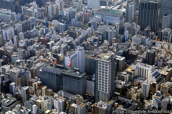 日本通運新本社ビルの空撮
