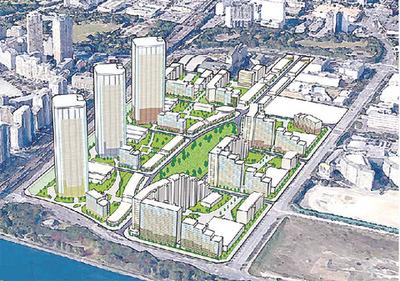 幕張新都心若葉住宅地区の完成予想図