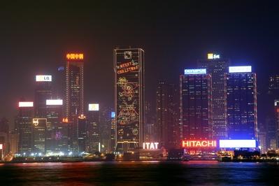 香港クリスマス夜景