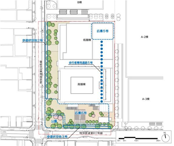浜松町二丁目地区第一種市街地再開発事業 配置図