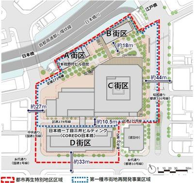 日本橋一丁目中地区 配置図