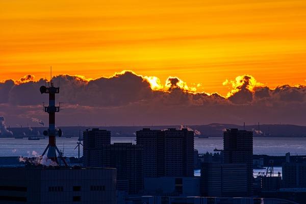 東京タワーから見た初日の出直前