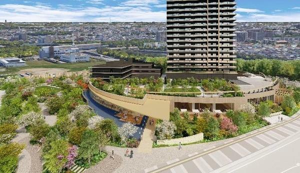 (仮称)パークウェルステイト幕張計画 ランドスケープ鳥瞰イメージ