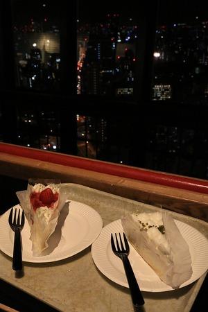 東京タワーでケーキセット