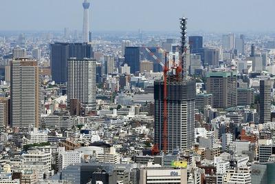 東京都庁から見た富久クロス