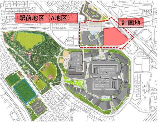 (仮称)南町田グランベリーパーク駅前マンション計画 位置図