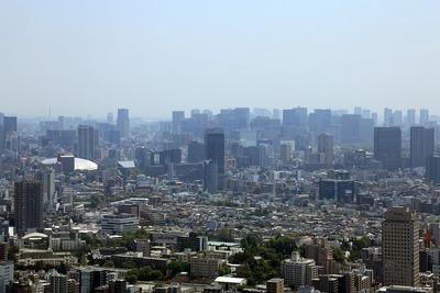サンシャイン60の展望台からの眺め