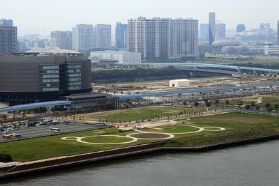 パーシティ豊洲から豊洲6丁目方面の眺め