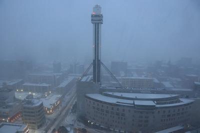 大雪のタワーホール船堀