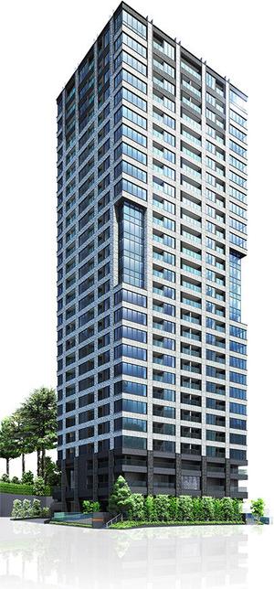 ザ・パークハウス 白金二丁目タワー 完成予想図