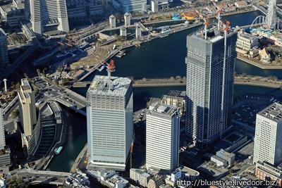 横浜市新市庁舎の空撮