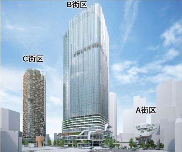 渋谷二丁目西地区第一種市街地再開発事業 建物デザインイメージ