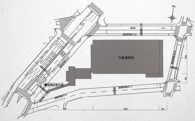 (仮称)大阪市北区豊崎三丁目新築工事計画 配置図