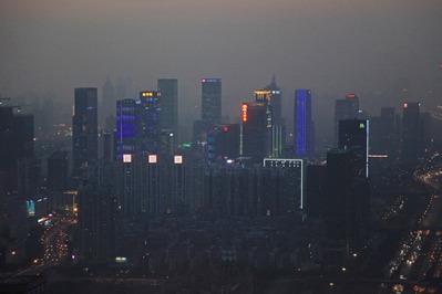 深センのSEG Plaza(賽格広場)からの夜景
