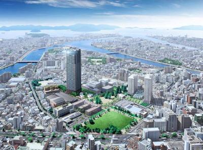 「広島ナレッジシェアパーク」の完成予想CG