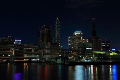 三宮方面の夜景