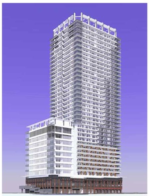 浜松町一丁目地区第一種市街地再開発事業の完成予想図