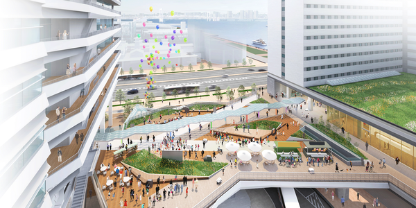 (仮称)豊洲六丁目4-2,3街区プロジェクト 賑わいデッキ広場完成予想CG