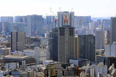 田町方面の超高層ビル群