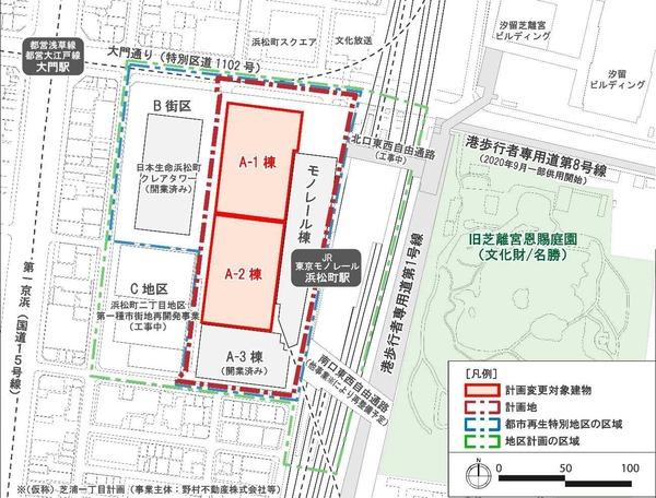浜松町二丁目4地区 配置図