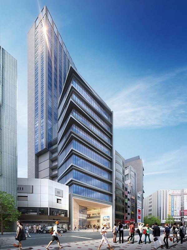 (仮称)渋谷区道玄坂二丁目開発計画 完成予想図