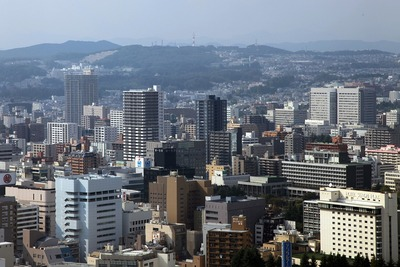 仙台アエルからの眺め