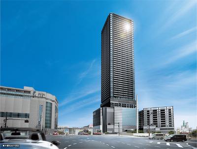 シティタワー広島の完成予想図