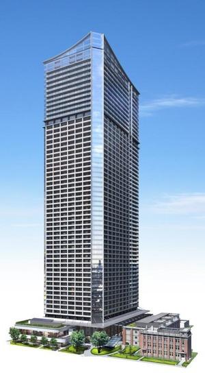 ミクストユースタワー 完成予想図