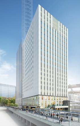 さいたま新都心ビル(仮称)の完成予想図