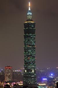 象山から台北101の夜景