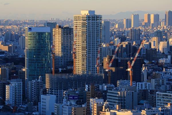 東京タワーから見た白金ザ・スカイ