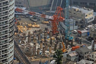 東京スカイツリーから見たアトラスタワー曳舟