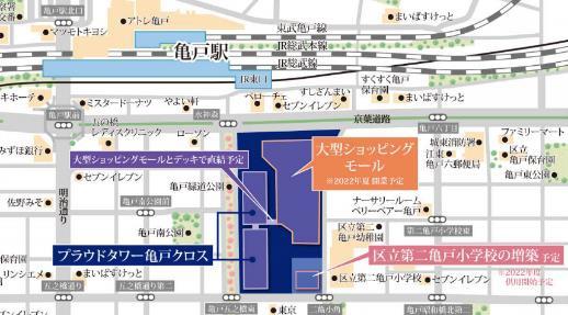 プラウドタワー亀戸クロス 位置図
