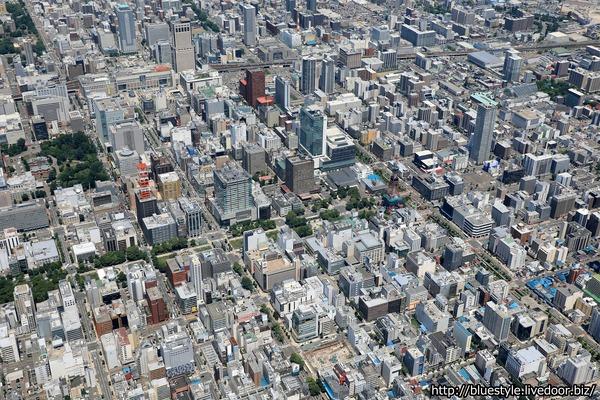 札幌市街の空撮