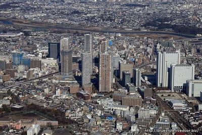 武蔵小杉駅周辺の空撮