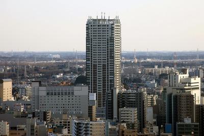 千葉ポートタワーから見た千葉セントラルタワー