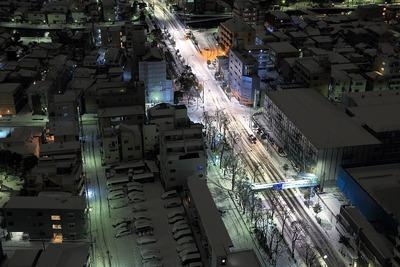 大雪翌日の船堀街道