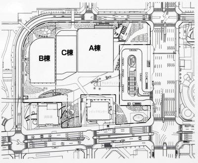 (仮称)豊洲二丁目駅前地区第一種市街地再開発事業 2-1街区 配置図