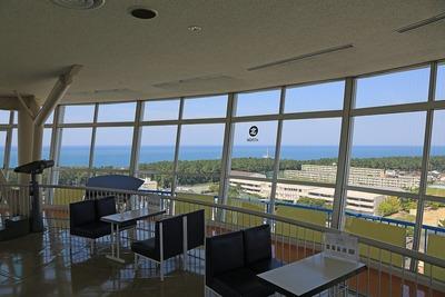 日本海タワーの展望室内