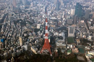 東京タワーのセスナによる空撮