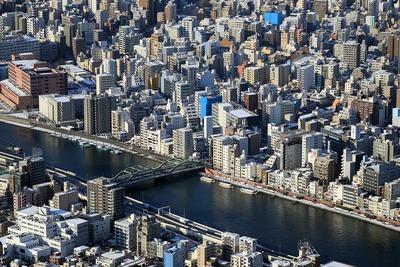 東京スカイツリーから見た(仮称)蔵前2丁目計画方面